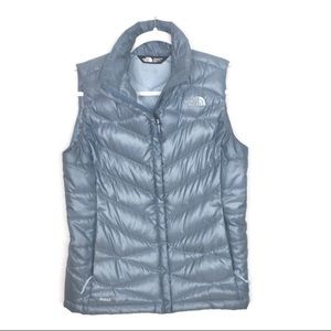The North Face Vest Blue Puffy Goose Down Sz XS